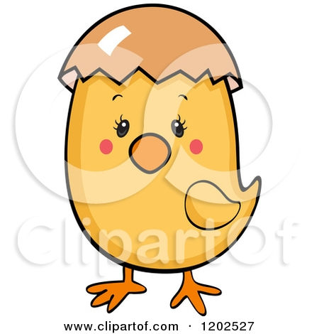 baby chick coloring pages - cute baby chick with an eggshell on its head