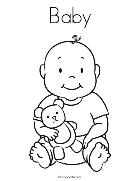 baby coloring pages - baby 5 coloring page