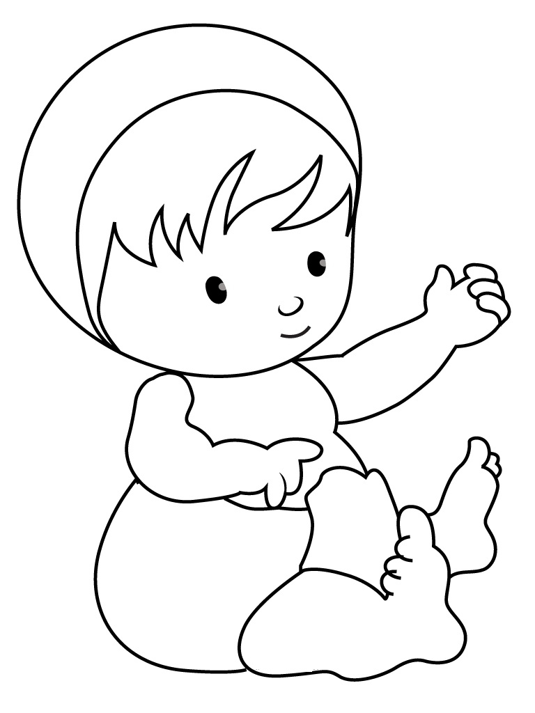 baby coloring pages - baby coloring pages