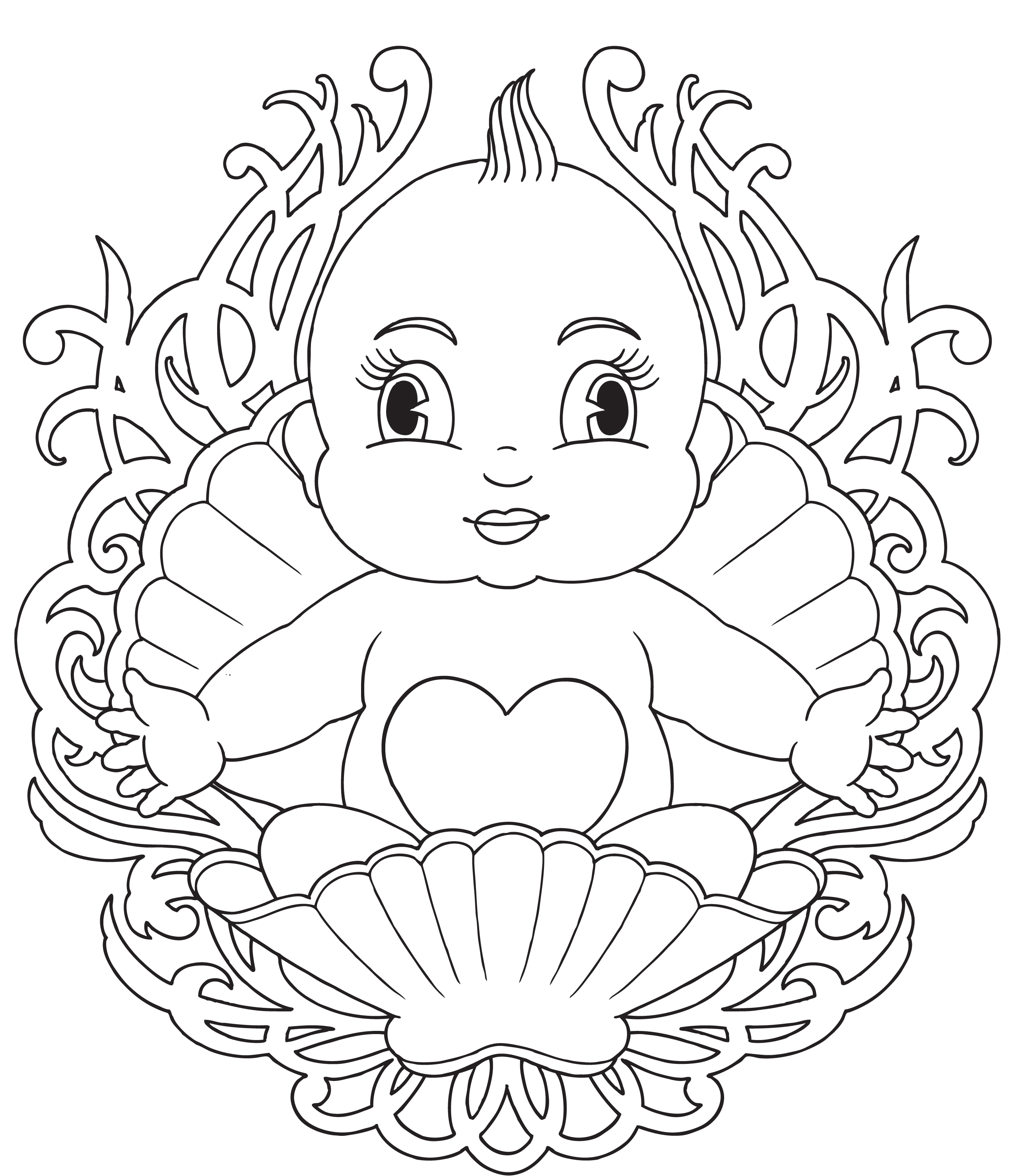 Baby Coloring Pages - Free Printable Baby Coloring Pages for Kids