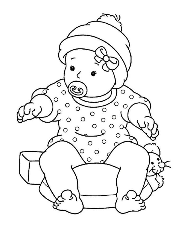 Baby coloring pages free printable baby shower coloring pages
