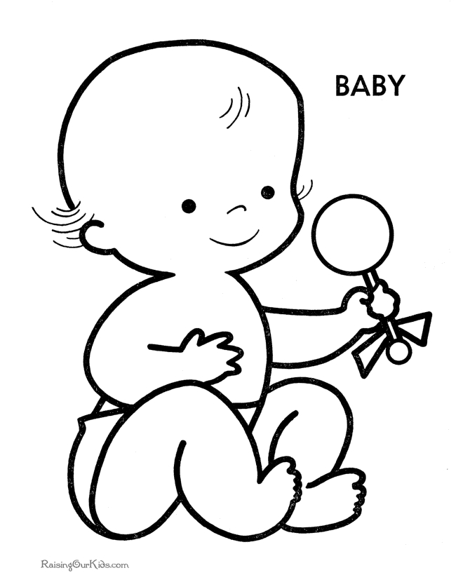baby coloring pages - free printable baby shower coloring pages