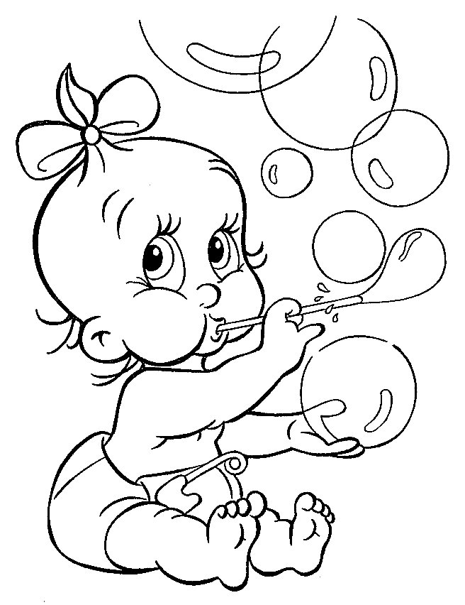 baby coloring pages - Baby
