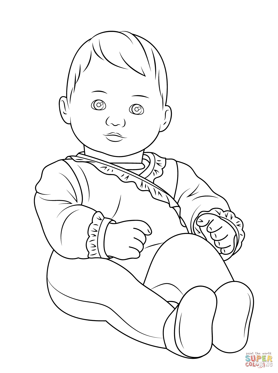 baby doll coloring page - american girl bitty baby