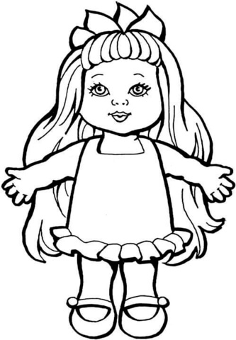 baby doll coloring page - doll 3