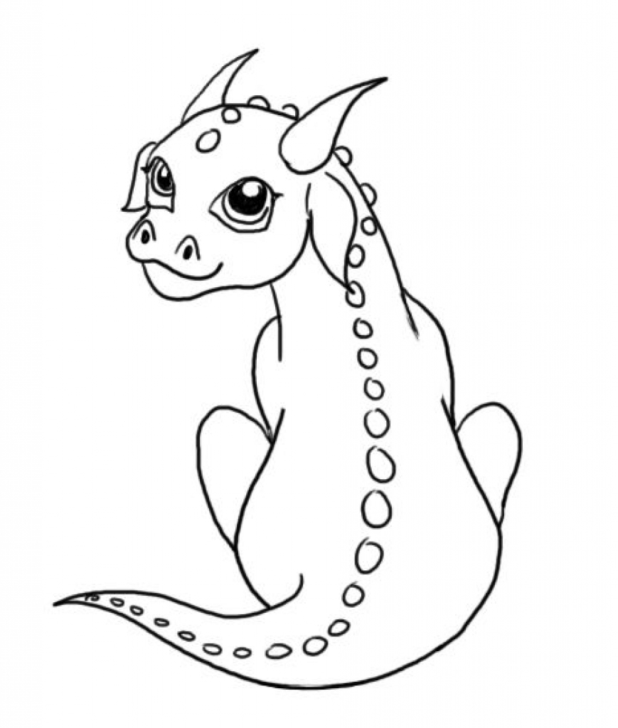 baby dragon coloring pages - elegant baby dragon coloring pages intended to encourage to color an image