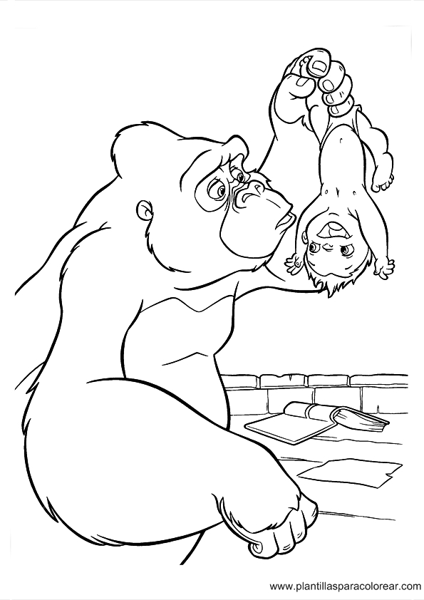 baby dragon coloring pages - imprimir dibujo tarzan 477