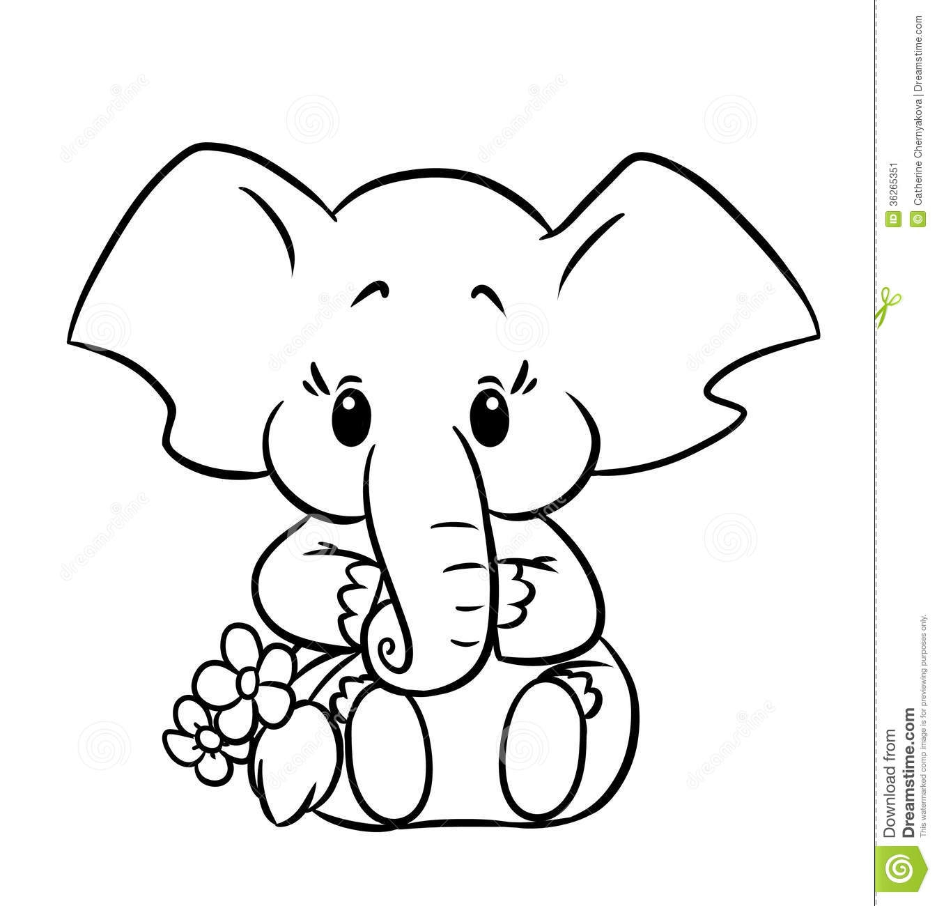 baby elephant coloring pages - 286