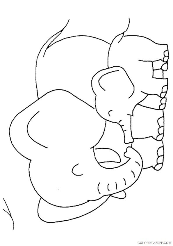 baby elephant coloring pages - baby elephant coloring pages with mom coloring4free