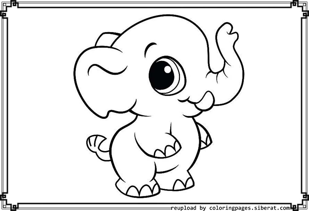 baby elephant coloring pages - baby elephants