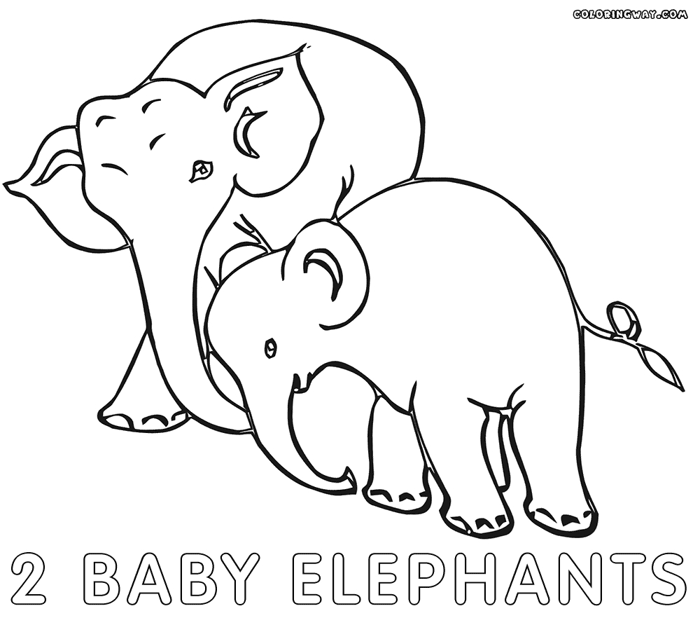 Baby Elephant Coloring Pages - Elephant Baby Coloring Pages