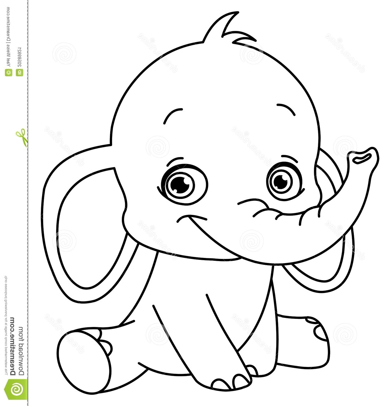 baby elephant coloring pages - baby elephant coloring pages print