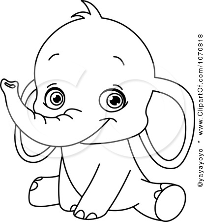 baby elephant coloring pages - baby elephant coloring pages