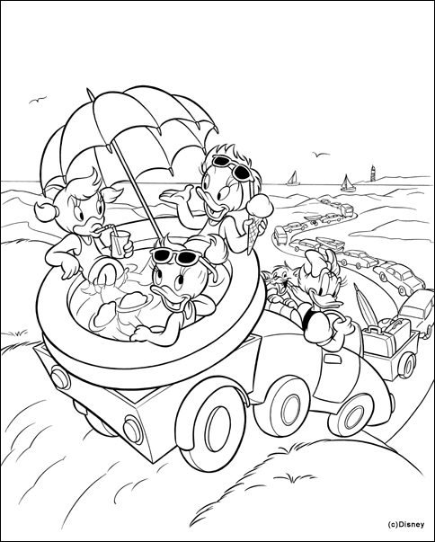 baby fox coloring pages - donald duck