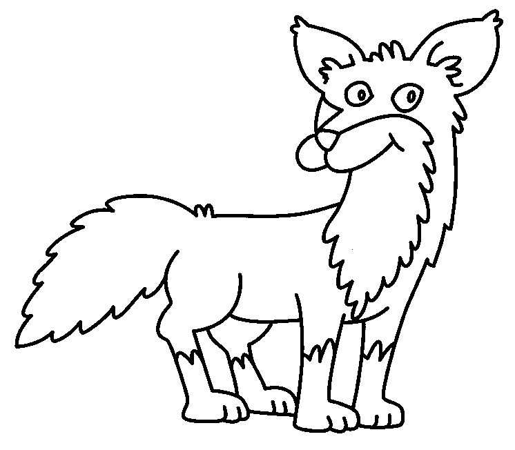baby fox coloring pages - fox coloring 02