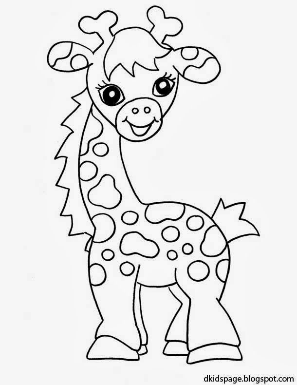 baby giraffe coloring pages - baby giraffe coloring pages