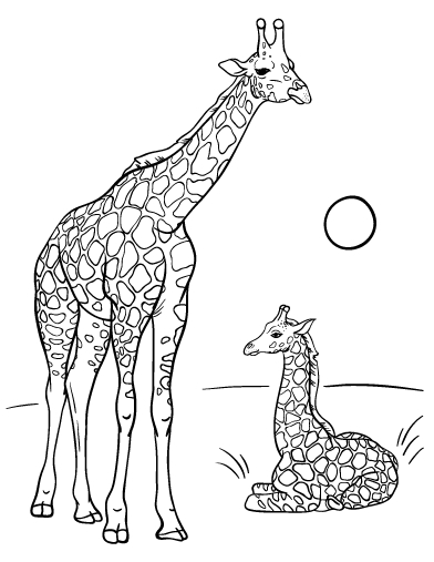 baby giraffe coloring pages - cute coloring pages of baby giraffes