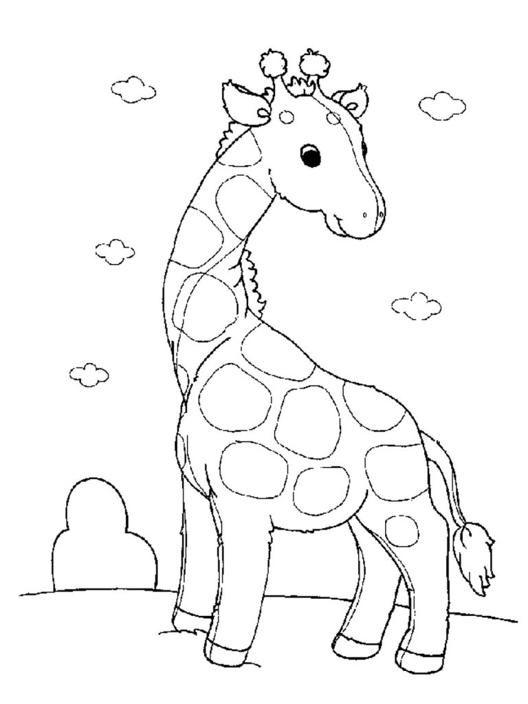 baby giraffe coloring pages - giraffe coloring pages
