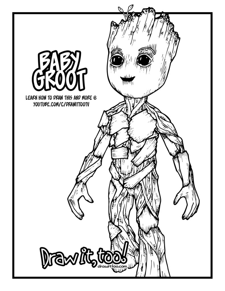 baby groot coloring page - groot coloring page printable sketch templates