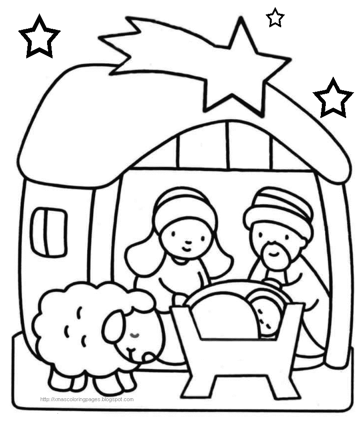 baby jesus coloring pages - baby jesus christmas coloring pages