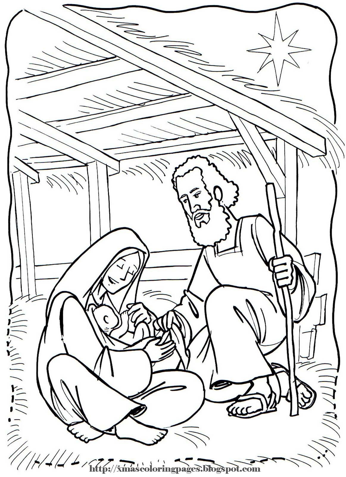 baby jesus coloring pages - baby jesus coloring page nativity