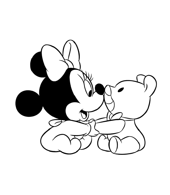 Baby Mickey Mouse Coloring Pages - Baby Mickey Mouse and Minnie Mouse Coloring Pages
