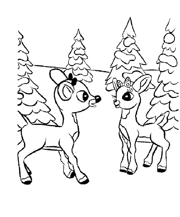 baby moana coloring pages - baby deer coloring page