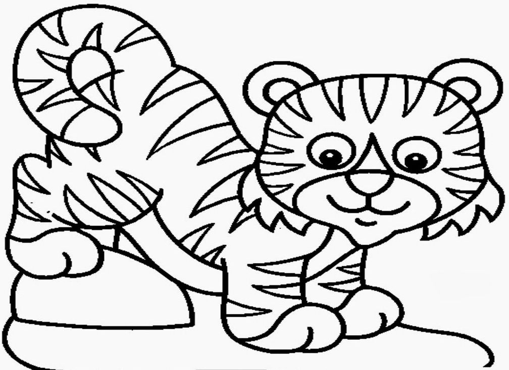 baby moana coloring pages - coloring page tiger