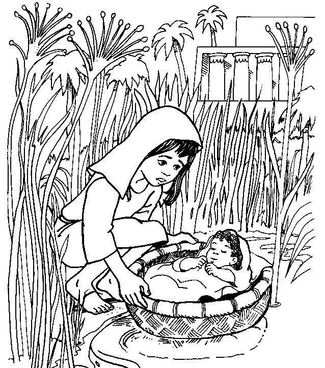 baby moses coloring page - 2