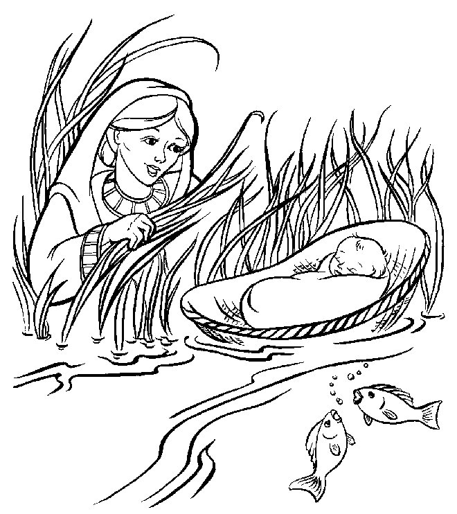 baby moses coloring page - coloring