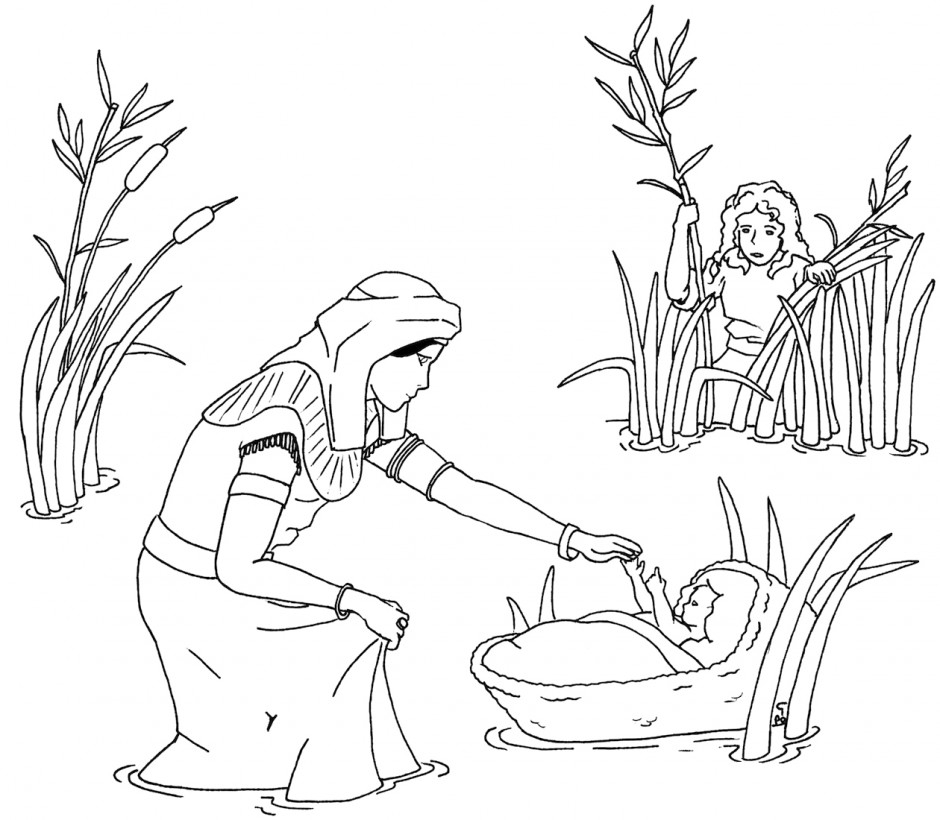 24 baby moses coloring page compilation