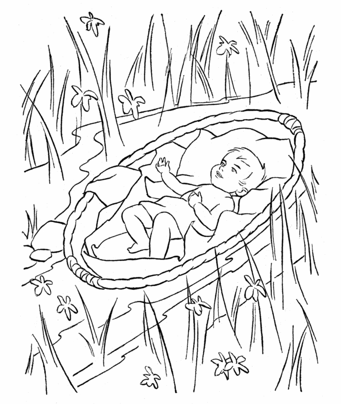 24 Baby Moses Coloring Page Compilation | FREE COLORING PAGES - Part 3