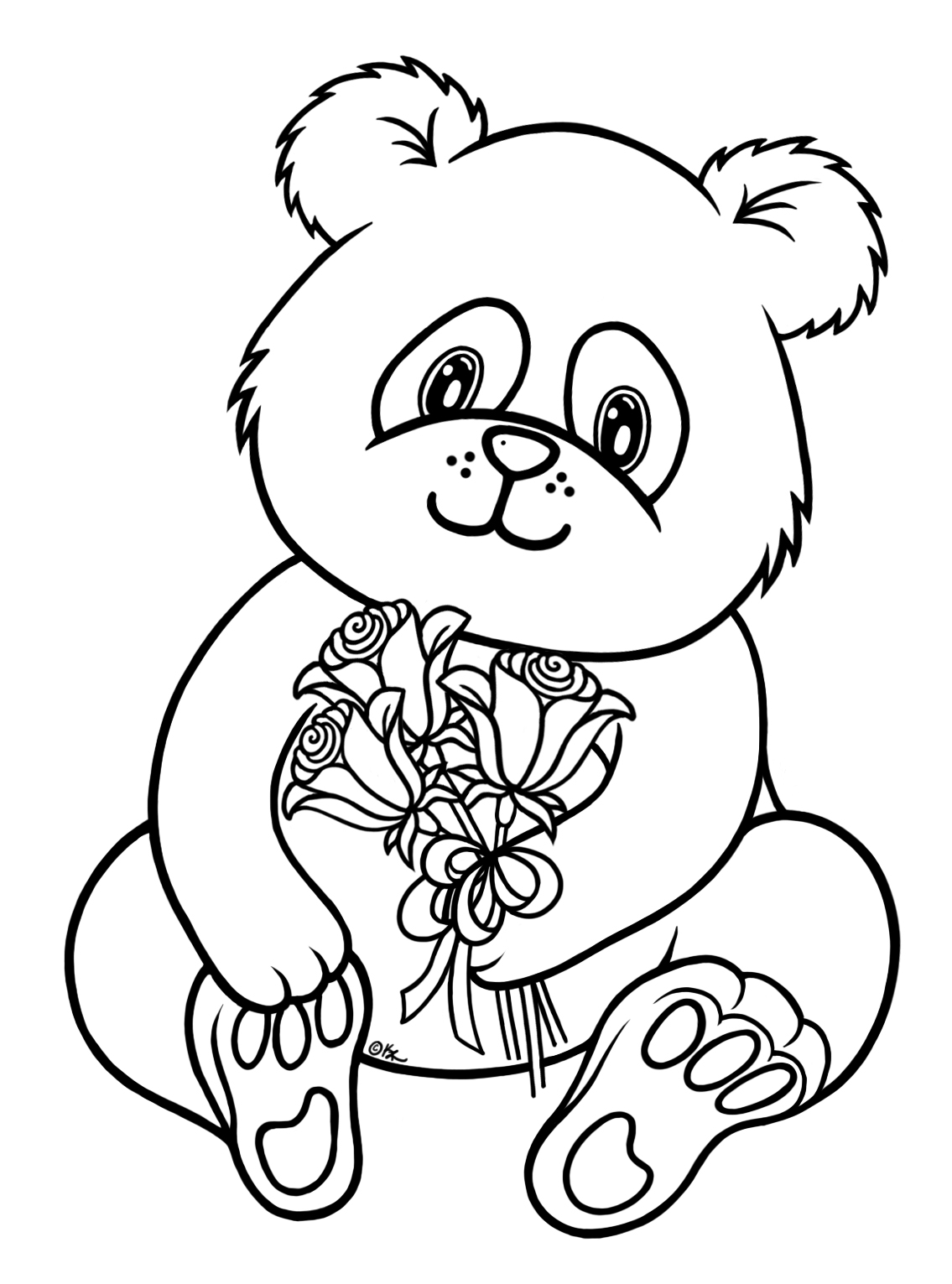 baby panda coloring pages - 2247