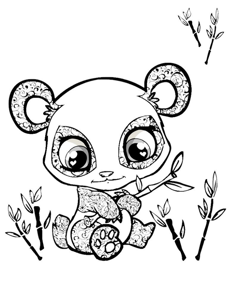baby panda coloring pages - cute coloring pages of animals