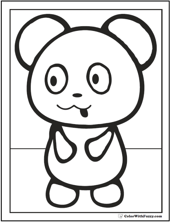 baby panda coloring pages - cute panda coloring pages