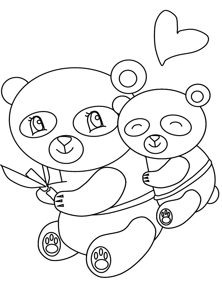 baby panda coloring pages - panda bear coloring pages for kids