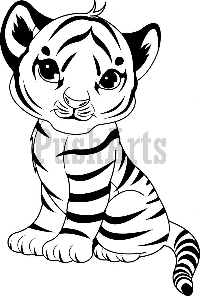 baby tiger coloring pages - coloring pages