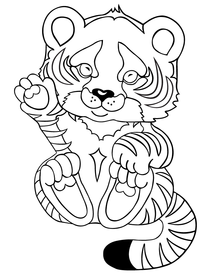 baby tiger coloring pages - tiger baby