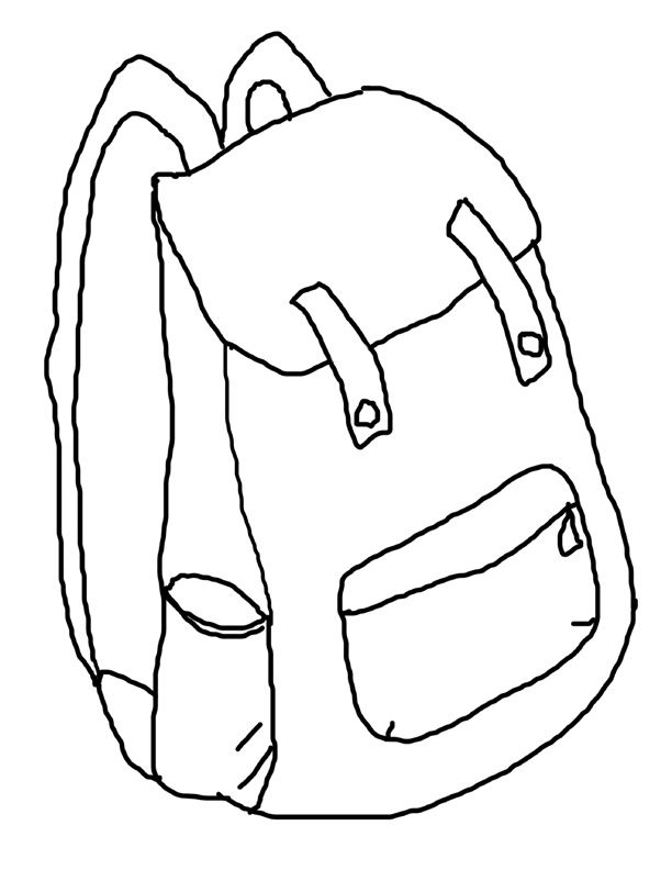 Backpack Coloring Page - Backpacks Cliparts