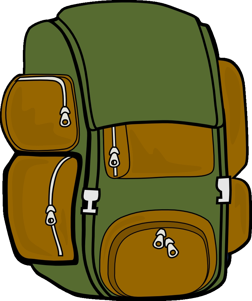 backpack coloring page - free clipart 6774