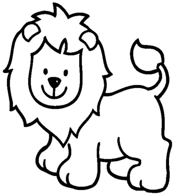 backyardigans coloring pages - dibujo para pintar de animales leon