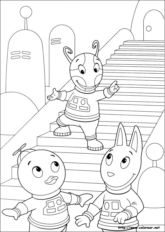 backyardigans coloring pages - dibujos