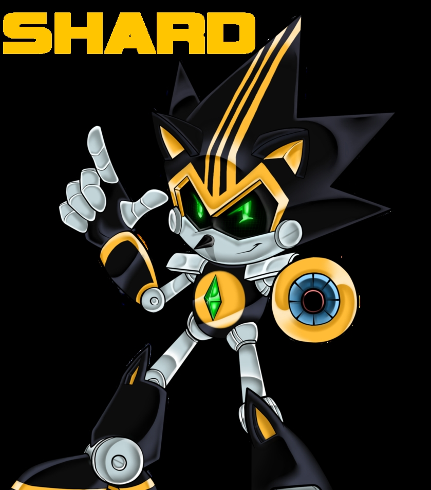 badass coloring pages - Shard the Metal Sonic