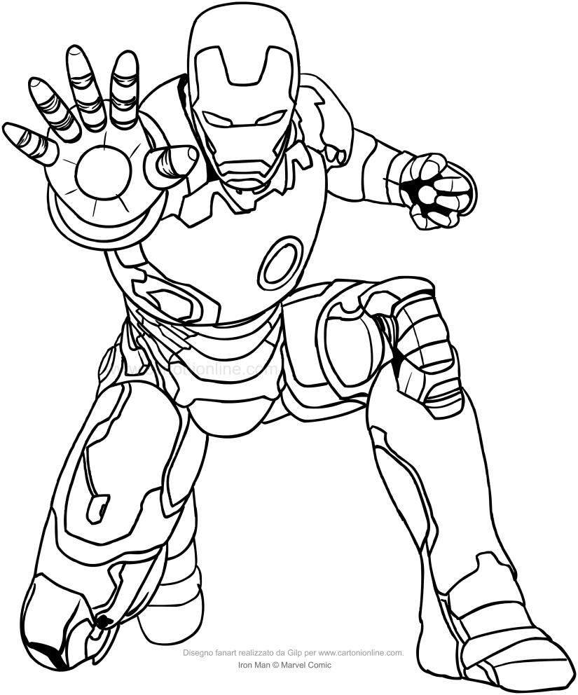 ballerina coloring pages - iron man 03