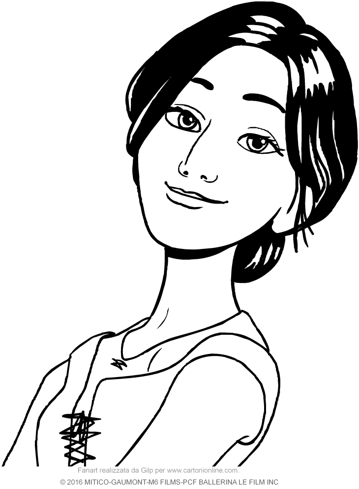 ballerina coloring pages - odette pp
