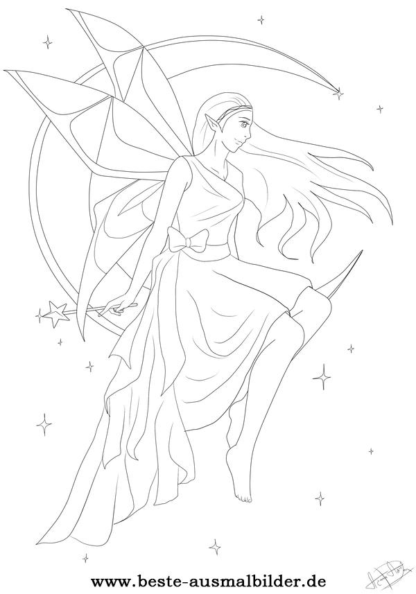 ballerina coloring pages - malvorlage fee