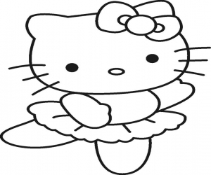 ballerina coloring pages - Hello Kitty Ausmalbilder