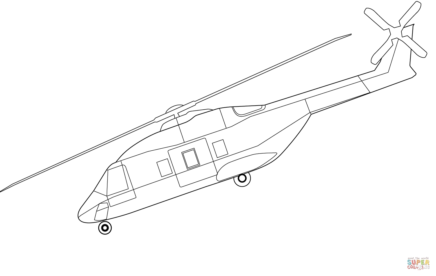 balloon coloring pages - nh90 hubschrauber