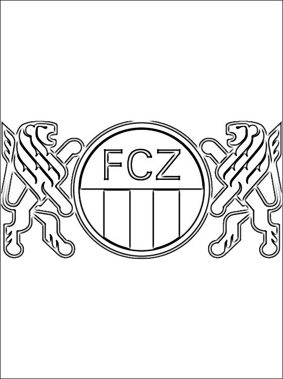 bambi coloring pages - emblem of fc zurich coloring page