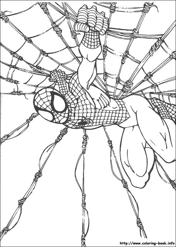 bambi coloring pages - spiderman